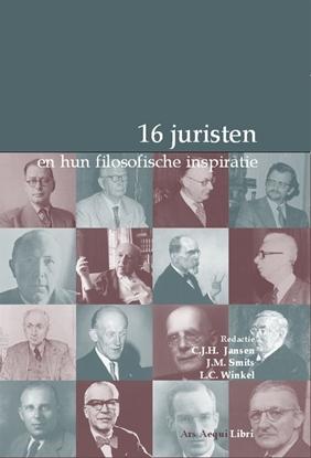 Afbeeldingen van 16 juristen en hun filosofische inspiratie