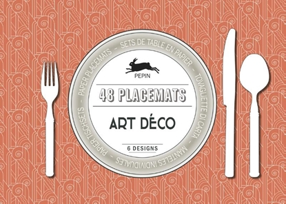 Afbeeldingen van 48 placemats Art Déco