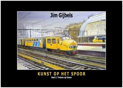 Afbeeldingen van Kunst op het spoor Treinen op linnen