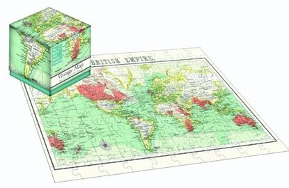 Afbeeldingen van 100 Piece Cube Jigsaw Vintage Map