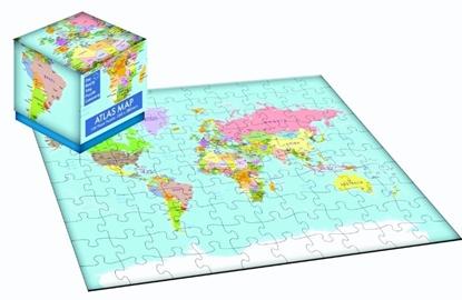 Afbeeldingen van 100 Piece Cube Jigsaw Atlas Map