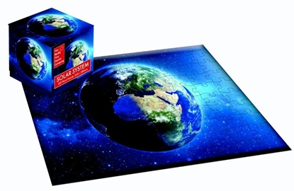 Afbeeldingen van 100 Piece Cube Jigsaw Solar System Earth