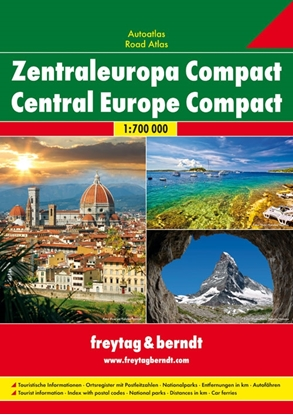 Afbeeldingen van Centraal Europa Compact Wegenatlas F&B