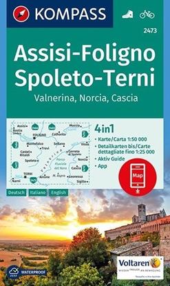 Afbeeldingen van Assisi, Foligno, Spoleto, Terni, Valnerina, Norcia, Cascia 1:50 000