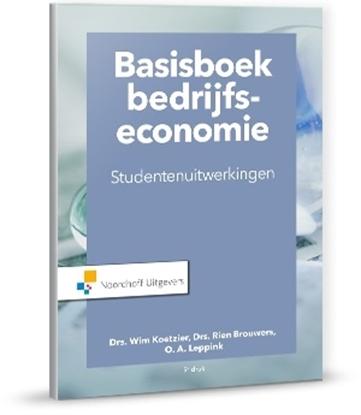 Afbeeldingen van Basisboek bedrijfseconomie-studentenuitwerkingen