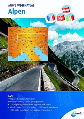 Afbeeldingen van ANWB wegenatlas Alpen