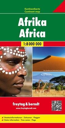 Afbeeldingen van Afrika, Kontinentkarte 1:8 000 000