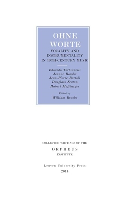 Afbeeldingen van Collected Writings of the Orpheus Institute Ohne worte