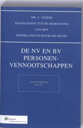 Afbeeldingen van Asser NV en BV, Personenvenootschappen studenteneditie 2011