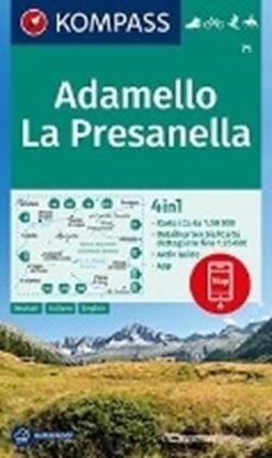 Afbeeldingen van Adamello, La Presanella 1:50 000