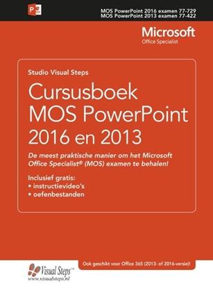 Afbeeldingen van Cursusboek MOS PowerPoint 2016 en 2013