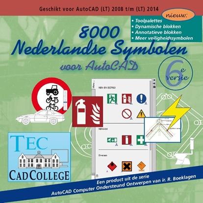 Afbeeldingen van 8000 Nederlandse Symbolen voor AutoCAD