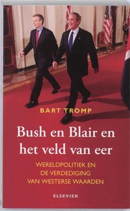 Afbeeldingen van Bush en Blair en het veld van eer