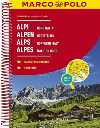Afbeeldingen van Alpen - Noord Italië Wegenatlas Marco Polo