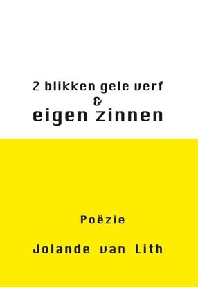 Afbeeldingen van 2 blikken gele verf & eigen zinnen