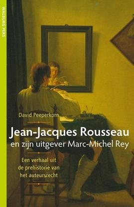 Afbeeldingen van Jean-Jacques Rousseau en zijn uitgever Marc-Michel Rey