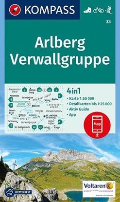 Afbeeldingen van Arlberg, Verwallgruppe 1:50 000
