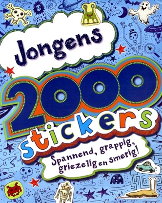 Afbeeldingen van 2000 stickers voor jongens
