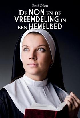 Afbeeldingen van De non en de vreemdeling in een hemelbed