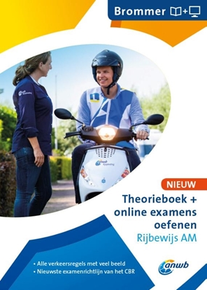 Afbeeldingen van ANWB rijopleiding Theorieboek Rijbewijs AM