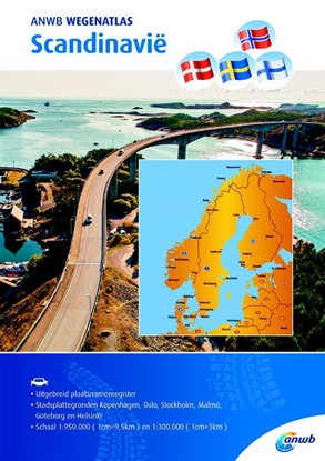 Afbeeldingen van ANWB wegenatlas Scandinavië