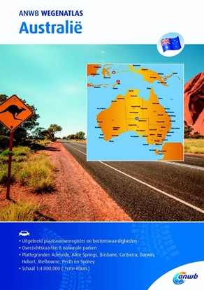 Afbeeldingen van ANWB wegenatlas Australië
