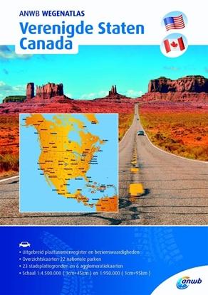 Afbeeldingen van ANWB wegenatlas Verenigde Staten/ Canada