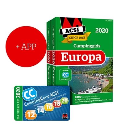 Afbeeldingen van ACSI Campinggids ACSI Campinggids Europa + app 2020