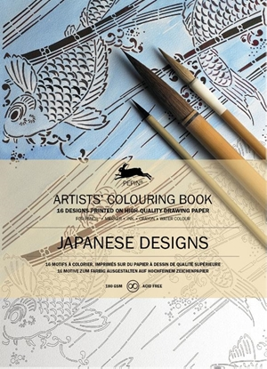 Afbeeldingen van Artists colouring book Japanese designs