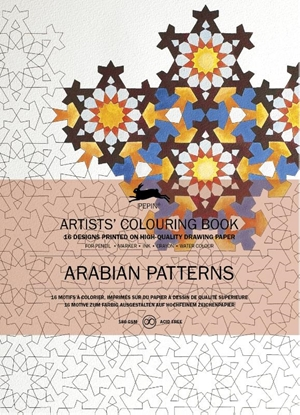Afbeeldingen van Artists colouring book Arabian patterns