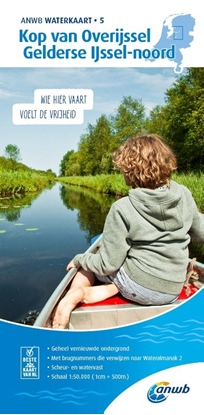 Afbeeldingen van ANWB waterkaart Kop van Overijssel-Gelderse IJssel-noord