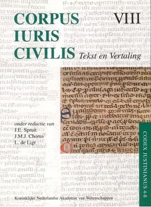 Afbeeldingen van Corpus Iuris Civilis VIII; Codex Justinianus 4 - 8 VIII Codex Justinianus iv-viii
