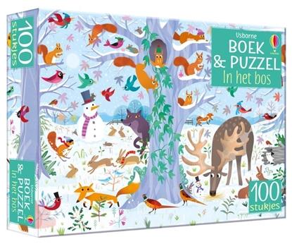 Afbeeldingen van Boek & Puzzel In het bos