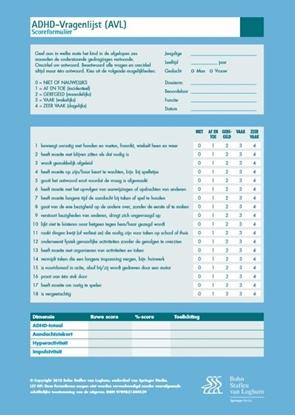Afbeeldingen van ADHD-vragenlijst AVL
