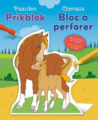 Afbeeldingen van Paarden prikblok / Chevaux bloc à perforer