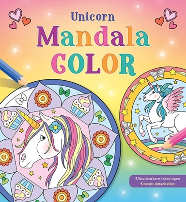 Afbeeldingen van Unicorn Mandala Color